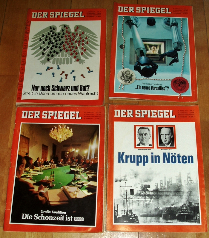 44x der spiegel 1967 zeitschrift politik for Spiegel nachrichtenmagazin